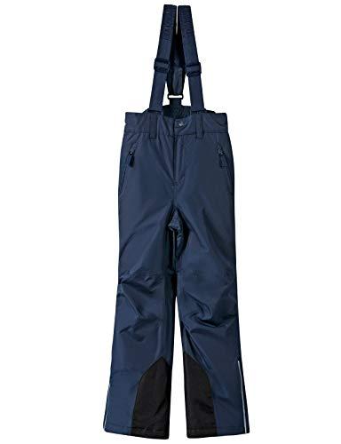 BenBoy Kinder Skihose mit Träger Schneehose Outdoor Winddichte Wasserdicht Wandern Winterhose Snowboardhose für Mädchen Jungen,KZ2216-Darkblue-116