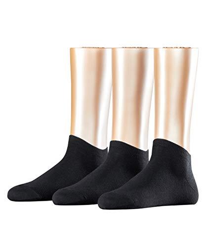 ESPRIT Damen Solid 3-Pack W SN Hausschuh-Socken, Schwarz (Black 3000), 36-41 (3er Pack)