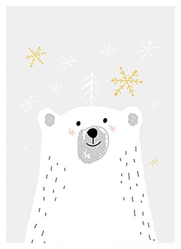 XIAOFANG Elefant, Bär, Fuchs und Mädchenmalerei Muster gezählt auf Leinwand gedruckt DMC 11CT. Chinesischer Kreuzstich-Kit-Hand-Hand-Set-Sticker