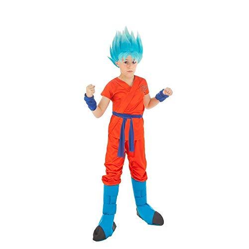 Generique - Dragonball Z-Kinderkostüm Son Goku orange-blau - 152 (11-12 Jahre)