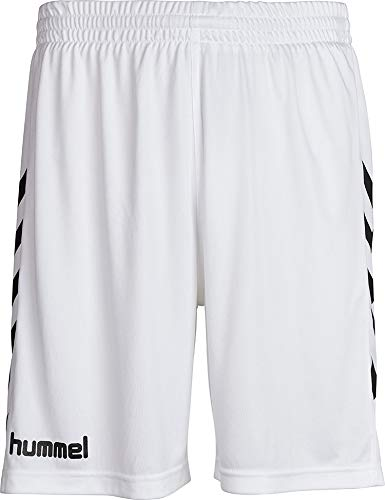 hummel Jungen Sporthose Kurz-Core Poly Shorts-Trainingshose Herren Hohe Bewegungsfreiheit-Laufshorts, weiß Pr, 164-176 (XL)