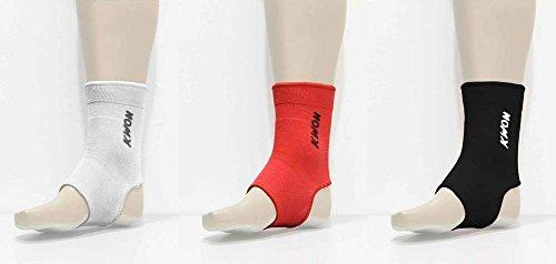 Kwon elastische Fußbandage für Thai / Kickboxen, Größe:L;Farbe:Weiß