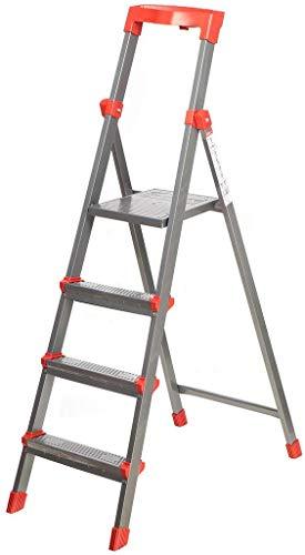 Nika Klapptritt Stehleiter, Aluminium, belastbar 150 kg (4 Stufen)