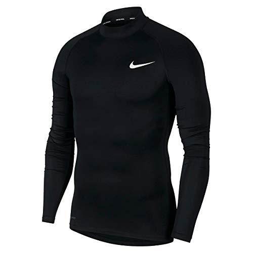 Nike Herren Langarm-Oberteil Pro, Black/White, L, BV5592-010