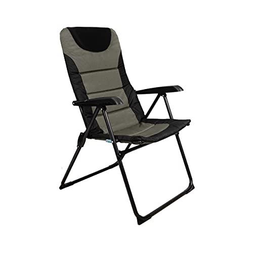 Homecall Camping-Klappstuhl mit gepolsterter, verstellbarer Rückenlehne - (Grün/Schwarz)