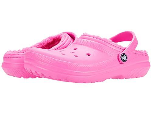 crocs Unisex-Kinder Classic Lined Clog Kids Clogs, Elektrisches Rosa, 25/26 EU