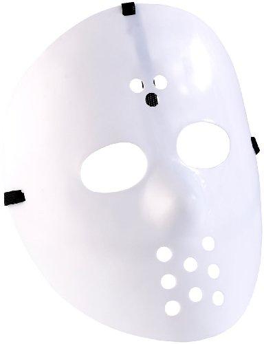infactory Karneval-Masken: Hockey-Maske für Halloween, weiß (Masken zum Kostümieren)