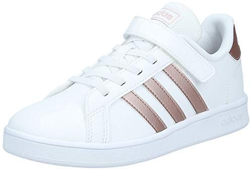 adidas Grand Court C Sneaker, FTWWHT/COPPMT/GLOPNK, 35 EU
