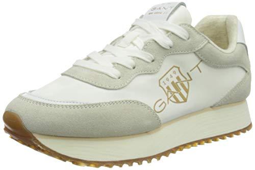 GANT FOOTWEAR Damen Bevinda Sneaker, Off White, 38 EU
