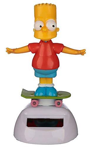 Namenlos Wackelfigur Bart Simpson mit Solar   Lustige Deko-Figur Wackelkopf-Figur für Auto LKW H 10,5 cm