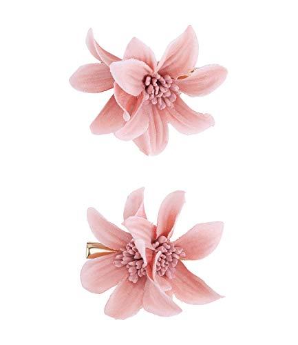 SIX Haarspange mit Lilie im 2er-Set [Damen Haarschmuck] - Haarclips » Haar Clips « Frauen Schmuck im Blumen Design - Haarklammer - Haarnadeln - Klammer - Haarspange - rosa (488-699)