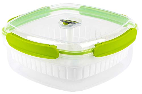 PRIVILEGE 2,9L Mikro Dampfgarer-Kartoffel & Gemüse Dampfgaren-Mikrowellengeschirr-Nudelkocher-Frischhaltebehälter