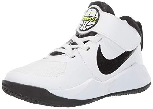 Nike Unisex Kinder Team Hustle D 9 (Ps) Basketballschuhe, Weiß White Black Volt 000, 34 EU