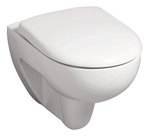 Keramag Spülrandloses Wand-WC Renova Rimfree, Tiefspüler Spülrandlos mit WC-Sitz, Absenkautomatik, Keramik & Duroplast, Weiß, 04785 2