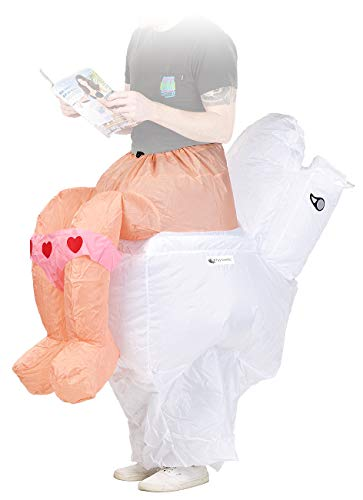 Playtastic Karneval Kostüm: Selbstaufblasendes Scherz- Kostüm Klo (Selbstaufblasende Fasching-Kostüme)