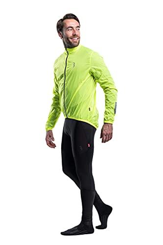 BBB Cycling fahrrad jacke, leicht, wasserabweisend und windabweisend, für Mountainbike, Rennrad und Urban Biking - für Damen, Herren, Kinder - BBW-148, Gelb (Neon Yellow), XXXL