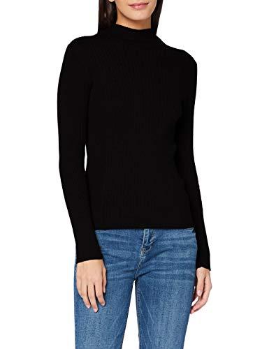 ESPRIT Damen 100EE1I303 Pullover, 001/BLACK, XS