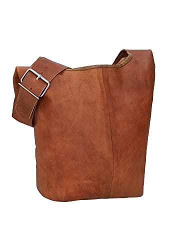 Gusti Shopper Damen Groß Leder - Josephine Ledertasche Beuteltasche Handtasche Vintage Braun
