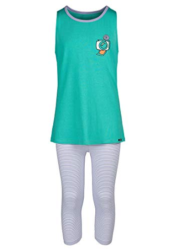 Skiny Damen Pyjama 3/4 Cosy Night Sleep im lässigen Look Agate Green, 176