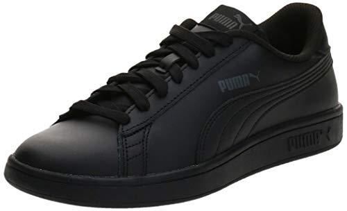 Puma Smash V2 L Jr, Unisex-Kinder Sneakers, Schwarz (Puma Black-Puma Black 01)
