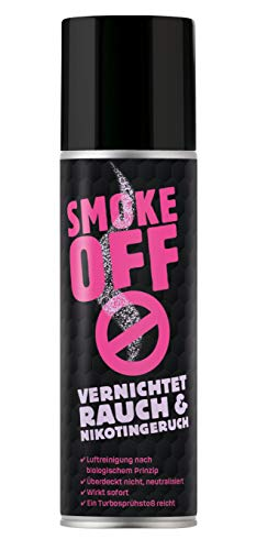 SMOKE OFF Rauchvernichter Turbo Spray - neutralisierendes Geruchsentferner Spray zur schnellen und langfristigen Geruchsbeseitigung von Rauch-, Nikotin- und Brandgerüchen