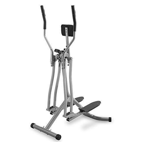 Physionics® Crosstrainer mit LCD Display - für Zuhause, mit Herzschlag Sensor und Bauchunterstützung - Heimtrainer Stepper, Cardio-Trainer, Nordic-Walker