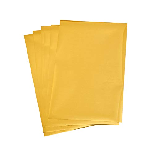 Rico Design Paper Poetry Transferfolie 15,1x9cm in vielen Farben 3D-Optik inkl. Anleitung 6 Blatt Transferpapier farbig Folie Gold