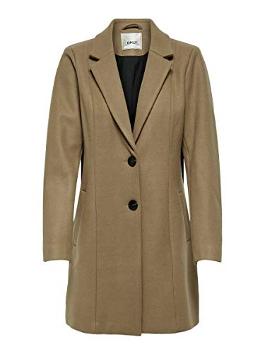 ONLY Damen ONLCARMEN Wool Coat CC OTW Wollmantel, Camel, S