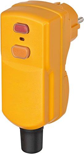 Brennenstuhl Personenschutz-Stecker BDI-S 2 30 IP55 (Personenschutzstecker mit FI-Schutzschalter für außen, zweipolige Abschaltung)