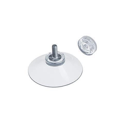 DIYexpert® 8 x Saugnapf Ø 40 mm mit Gewinde M4x10mm inkl. Rändelmuttern transparent - Made in Germany