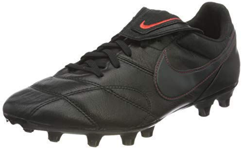 Nike Unisex Premier II FG Football Shoe, Black/Dark Smoke Grey-Chile Red, 39 EU