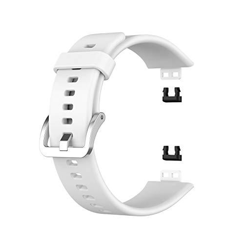 Funmix Silikon-Uhrenarmband kompatibel mit Huawei Watch FIT,Weiches Silikon,Uhrenarmband Ersatzarmband mit Werkzeug,Soft Breathable Sport-Uhrenarmband Verstellbarer,Schnellspannstifte
