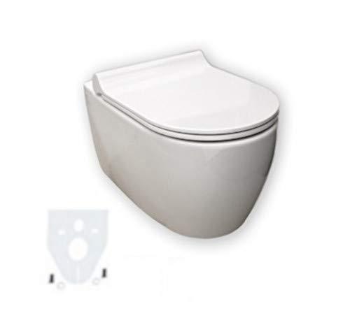 Keramag iCon Wand-WC spülrandlos, weiß, LotusClean Beschichtung, kpl. Set