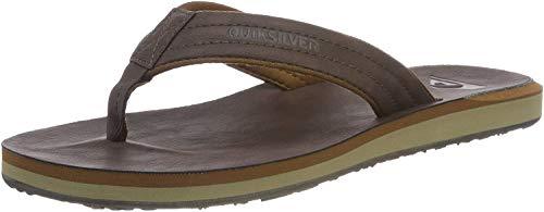 Quiksilver Herren Carver Nubuck-Sandals for Men Zehentrenner, Braun (Demitasse-Solid Ctk0), 46 EU