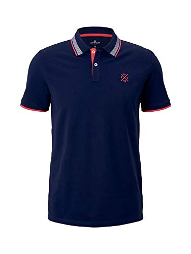 TOM TAILOR Herren 1026007 Basic Polohemd, 10932-Sailor Blue, M