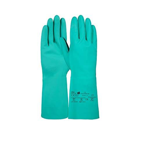 PRO FIT 12 Paar Trivex Nitril Chemikalienschutzhandschuh 33 cm (9, grün)