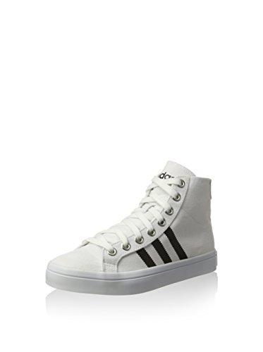adidas Herren Courtvantage Mid Ftwwht/Cblack/Metsil Basketballschuhe, FTWR White Core Black Metallic Silver SLD, 46 EU