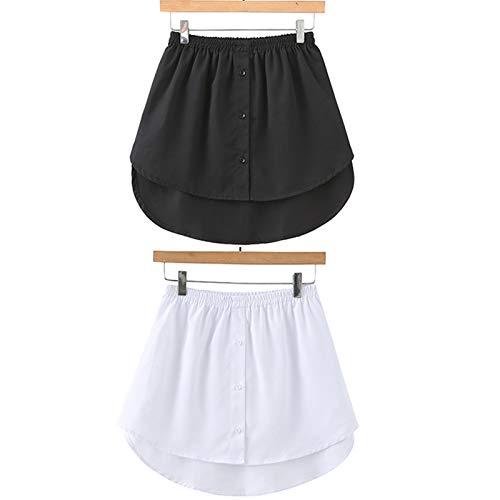 Shirt Extender Mini Skirt Minirock Shirt Extender Einstellbare Schichtung Fake Top Lower Sweep, für Pullover,Sweatshirt,Jacke,Mantel (2 Color, L)