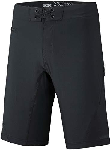 IXS Unisex Flow XTG Black L Shorts, schwarz, L