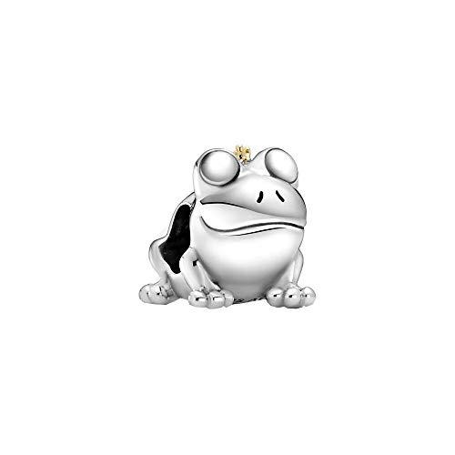 Pandora Zweifarbiger Froschkönig Charm-Anhänger in Sterling-Silber und 14 Karat Gold aus der Pandora Moments Collection