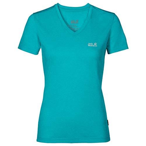 Jack Wolfskin Damen CROSSTRAIL T Women Funktionsshirt, Aquamarine, S