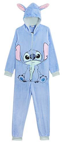Disney Stitch Onesie, Vlies Pyjama Kinder, Tier Kostüme Schlafanzug Kinder, Kuschelig Jumpsuit Mädchen Jungen, Kinder Geschenke (11/12 Jahre)