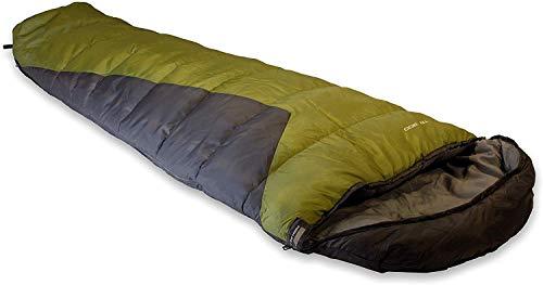High Peak Schlafsack TR 300, extra breit, 3-4 Jahreszeiten, Temperatur 0°C, warm, Packsack, koppelbar, Camping, Festival, Trekking, atmungsaktiv, hautsympathisch, wasserabweisend, 230x85cm, 1.500g