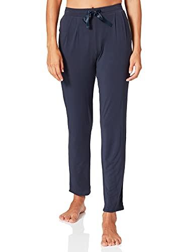 Schiesser Damen Mix & Relax Jerseyhose lang Schlafanzughose, Blau (Nachtblau 804), 46