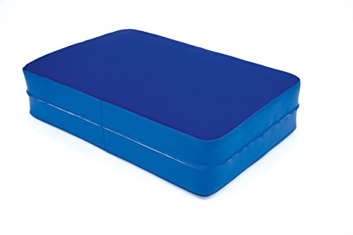 FLIXI Hüpfmatratze - ab 4 Jahre - Turn Matte für Kinder - Spiel Matratze zum Toben - Hüpfen - Balancieren - in Hellblau - Dunkelblau