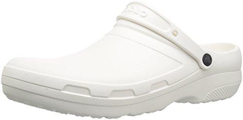 Crocs II Clog Specialist 204590-100 Unisex Badelatschen 204590-100_42/43 42/43 EU, Weiß (White), 42/43