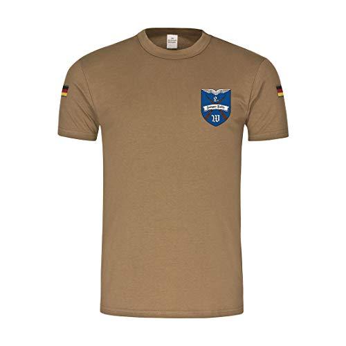 BW Tropen 2 WachBtl Variante Wachbataillon Kompanie Bundeswehr T-Shirt #32288, Größe:XXL, Farbe:Khaki