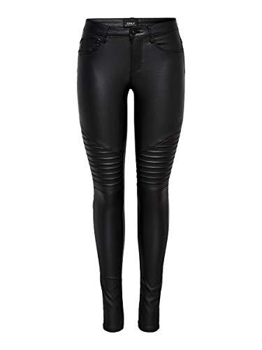 ONLY Female Skinny Fit Jeans Onlnew royal Coated Biker M32Black