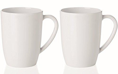 mikken Kaffeebecher, Kunststoff, Weiß, 2er Set Konisch, 2