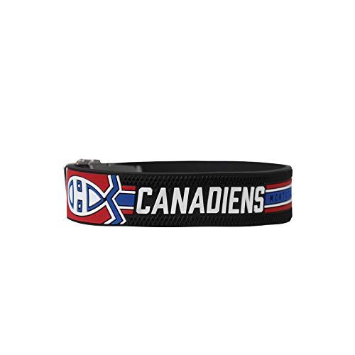 BRAYCE® Armband Montreal Canadiens I NHL® Trikot am Handgelenk Größen selbst anpassen I Armband verstellbar mit Puck Haptik als Geschenk für Eishockey Fans & Eishockeyspieler